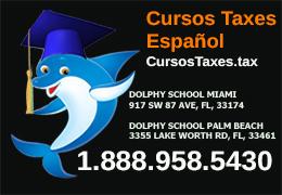 Cursos Certificados Español Taxes. Convertirte en Preparador de Impuestos. Dolphy School®